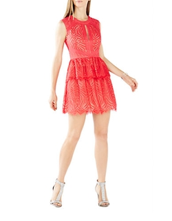 Micaila Lace Fit-And-Flare Dress by BCBGMAXAZRIA in The Vampire Diaries