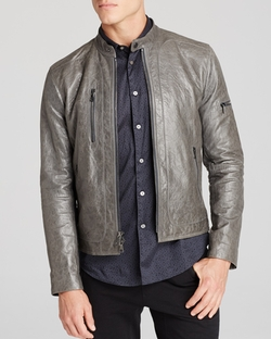 Leather Zip Jacket by John Varvatos in Scandal