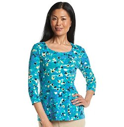 Scoopneck Smudge Floral Print Top by Laura Ashley in If I Stay