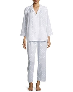 Polka Dot Long-Sleeve Pajama Set by Oscar de la Renta in Animal Kingdom