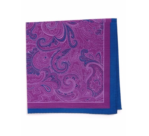 'Fancy Paisley' Cotton & Silk Pocket Square by Calibrate in The Good Place