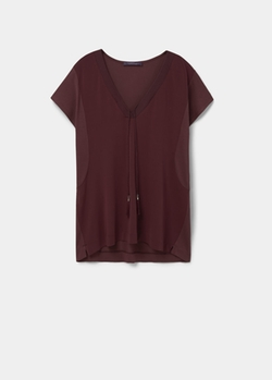Contrast T-Shirt by Mango in Pretty Little Liars