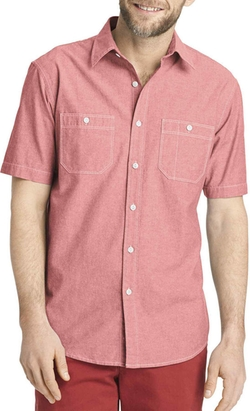 Short-Sleeve Chambray Woven Shirt by Arrow in Jurassic World
