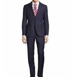 Tailored-Fit Solid Two-Piece Suit by Neiman Marcus in The Good Place