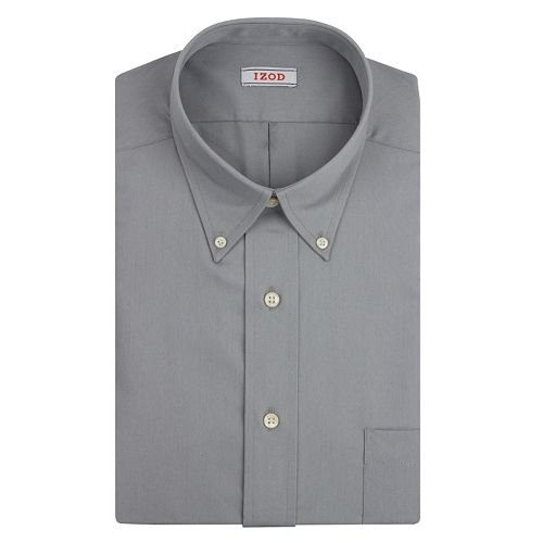 Solid Twill Button-Down Collar Dress Shirt by Izod in Crazy, Stupid, Love.