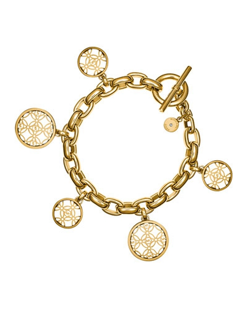 MK Monogram Disc Charm Bracelet by Michael Kors in Bridesmaids