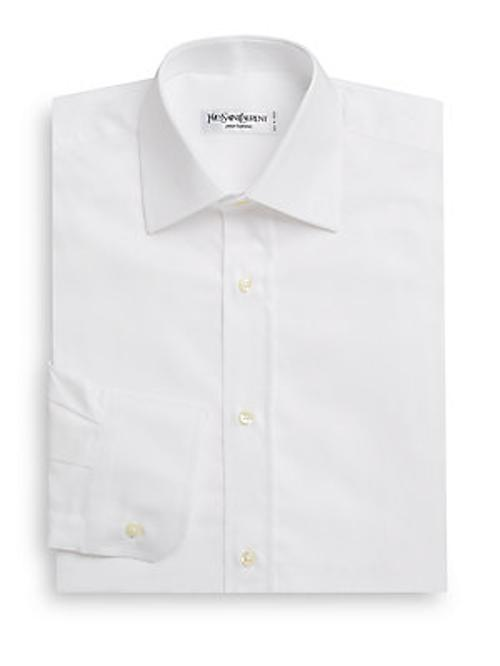 Woven Button-Down Dress Shirt by Yves Saint Laurent in Anchorman 2: The Legend Continues