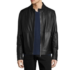 Classic Leather Biker Jacket by Hugo Boss in Lethal Weapon