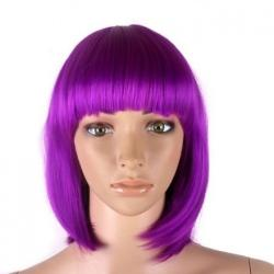Purple Short Bob Ladies Wigs by Reelva in Wish I Was Here
