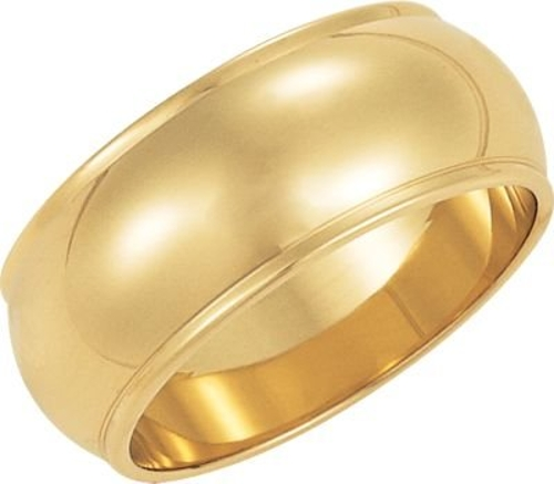 Half Round Edge Wedding Band by Jewelplus in The D Train