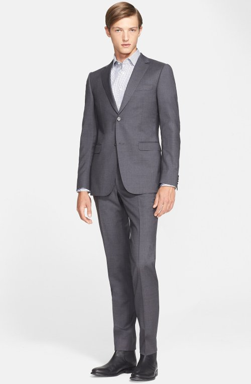 Extra Trim Fit Grey Wool Suit by Z Zegna in Crazy, Stupid, Love.