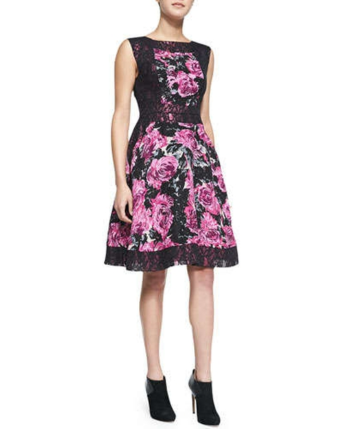 Custom Made Black With Cream / Pink Floral Dress (Young Amanda) by Ruth E Carter (Costume Designer) in The Best of Me