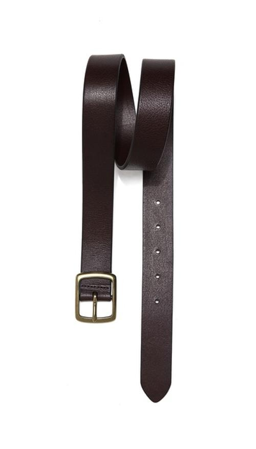 Casual Belt with Brushed Buckle by Linea Pelle in Interstellar