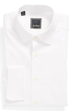 French Cuff Regular Fit Dress Shirt by David Donahue in Taken 3