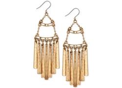 Gold-Tone Antiqued Fringe Drop Earrings by Lucky Brand in Pretty Little Liars