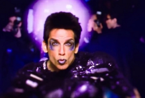 Custom Made Purple Metallic Shirt by Leesa Evans (Costume Designer) in Zoolander 2