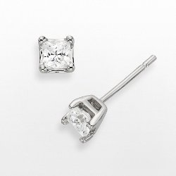 Simulated Diamond Princess Stud Earrings by Diamonore in Pitch Perfect 2