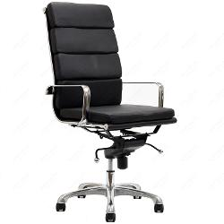 Mid-Century Designer High Back Office Chair in Leatherette by Classics in Fifty Shades of Grey