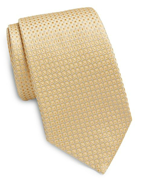 Neat Squares Silk Tie by Valentino in Suits - Season 5 Episode 1