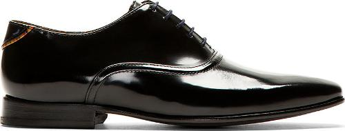Black Leather Starling Oxfords by PS by Paul Smith in Get On Up