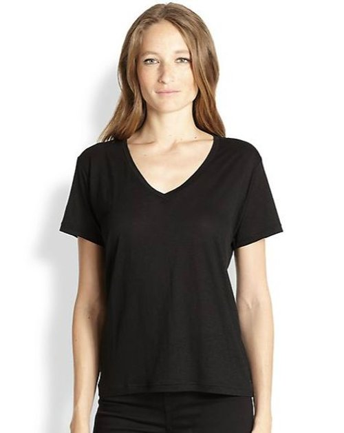 V-Neck Tee by J Brand in That Awkward Moment
