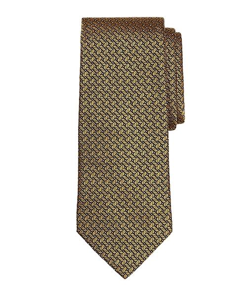 Basketweave Tie by Brooks Brothers in Elf