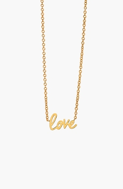 'Love' Pendant Necklace by Gorjana in Barely Lethal