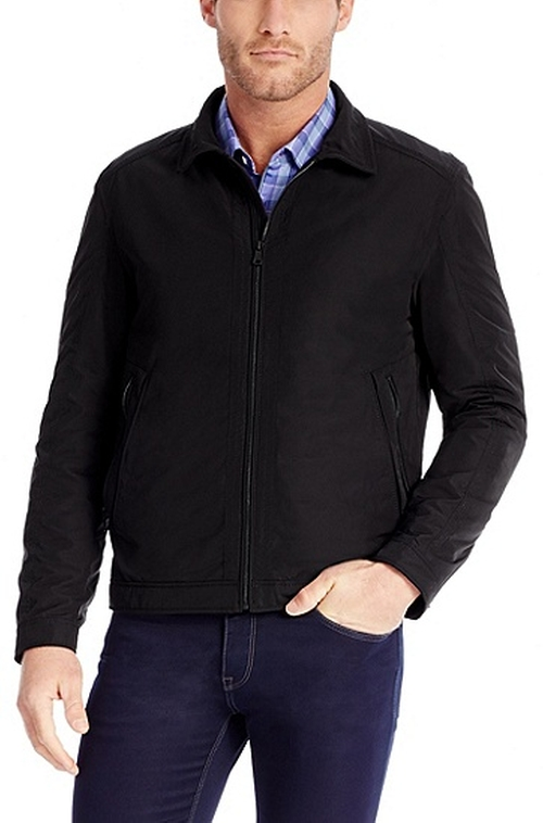 Water Repellent Zip Up Jacket by Hugo Boss in Steve Jobs