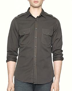 Twill Military Rover Shirt by Ralph Lauren Black Label in Little Fockers