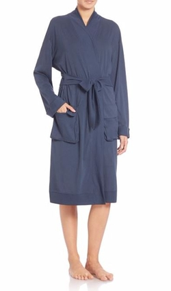 Prima Cotton Wrap Robe by Skin in Suits