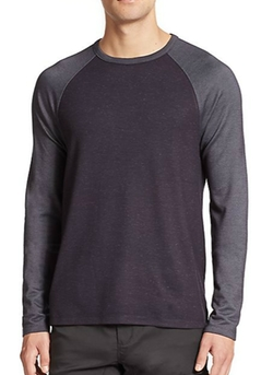 Raglan-Sleeve Crewneck Tee Shirt by Saks Fifth Avenue Collection in Billions