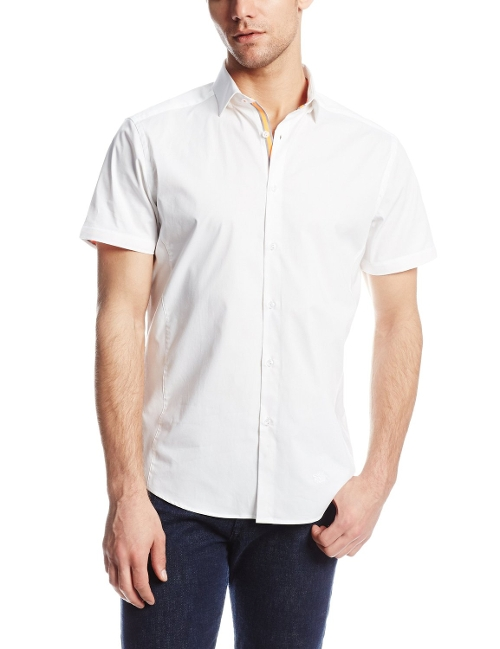 Solid Stretch Short Sleeve Shirt by Stone Rose in Absolutely Anything
