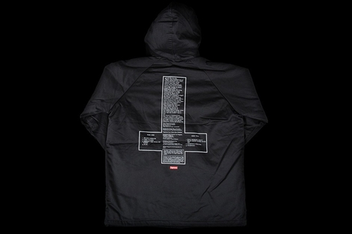 Hooded Parka Jacket by Supreme X Black Sabbath in Keeping Up With The Kardashians - Season 12 Episode 8