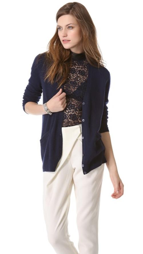 Sullivan Cashmere Cardigan by Equipment in What If