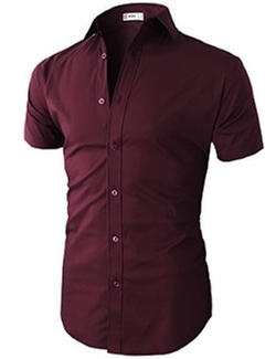 Slim Fit Button-Down Short Sleeve Shirt by H2H in Paper Towns