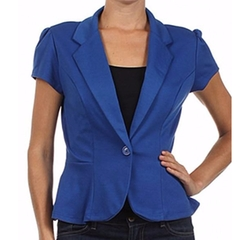Stylish Single Button Solid Blazer by Sassy Apparel in Pitch Perfect 3