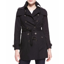 Reymoore Double-Breasted Hooded Trench Coat by Burberry in Quantico