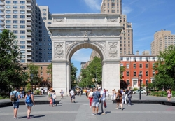 New York City, New York by Washington Square Arch in Mr. Robot