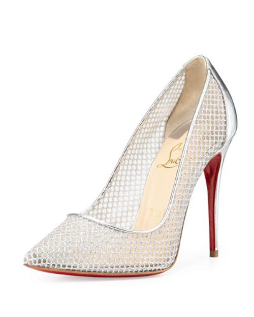 Follies Resille Glitter Fishnet Pump by Christian Louboutin in The Other Woman