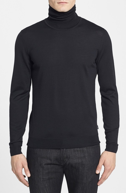 'Musso' Wool Turtleneck Sweater by Boss Hugo Boss in Scream Queens - Season 1 Episode 10