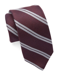 Striped Silk And Wool Tie by Michael Kors in Scandal