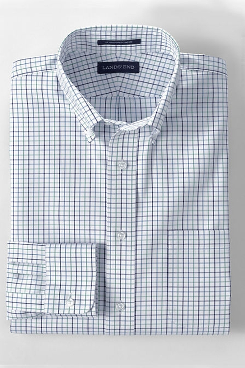 Traditional Fit Supima Pinpoint Dress Shirt by Land's End in Rosewood - Season 1 Episode 9