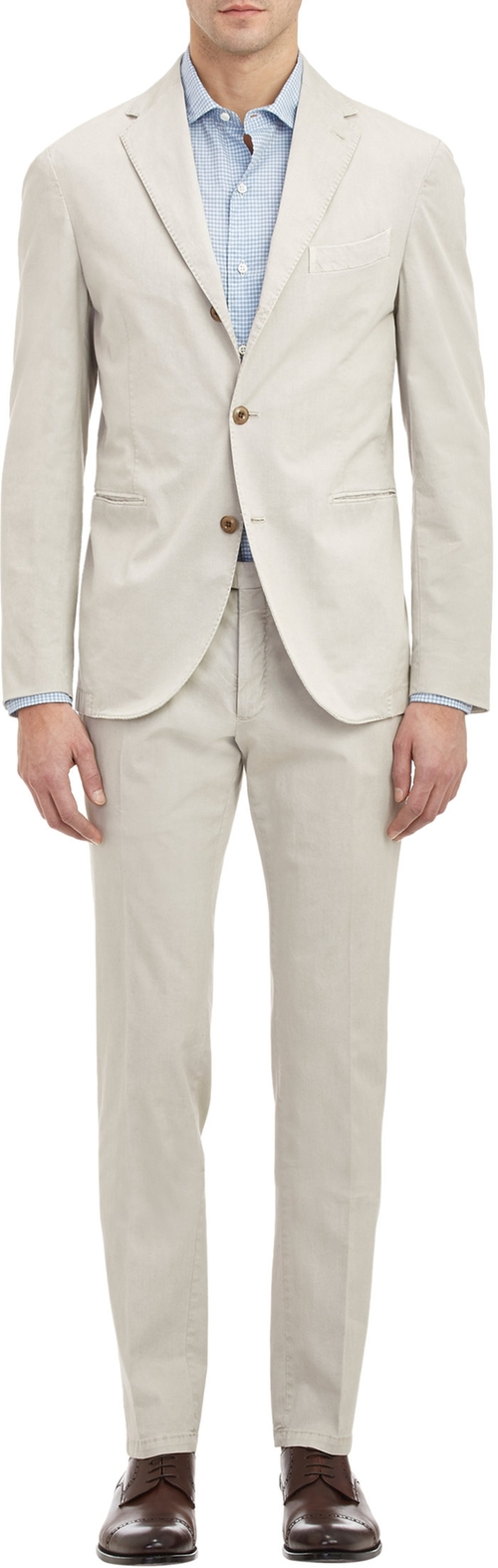 Twill Dover Three-Button Suit by Boglioli in Pretty Little Liars - Season 6 Episode 9