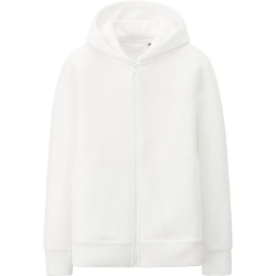 Kids Heattech Fleece Full Zip Hoodie by Uniqlo in No Escape