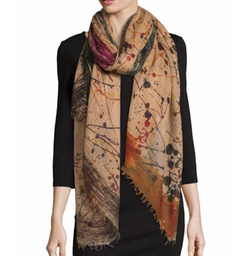 Woven Splatter-Print Scarf by Faliero Sarti in Grace and Frankie