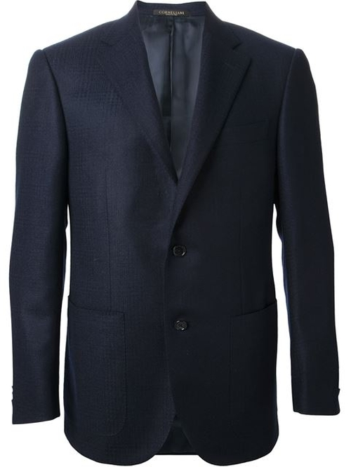 Two Button Blazer by Corneliani in Knock Knock