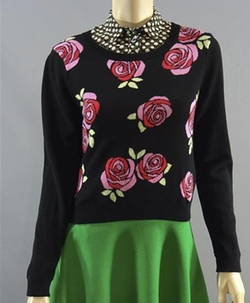 Black Floral Sweater by H&M in Me Before You