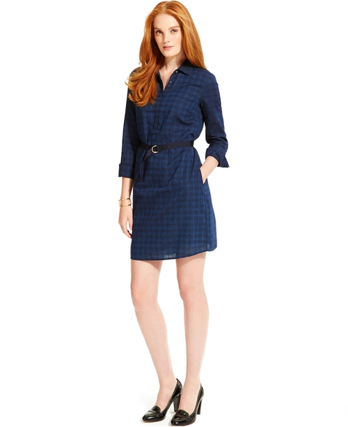 Plaid Belted Shirt Dress by Tommy Hilfiger in My All American