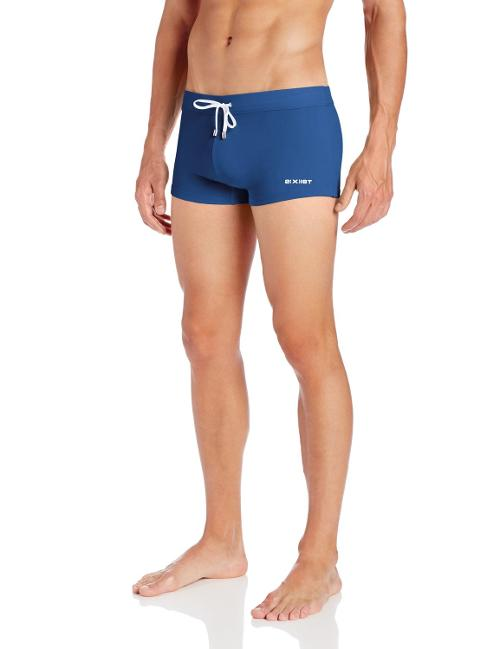 Men's Cabo Solid Swim Trunks by 2(x)ist in Yves Saint Laurent