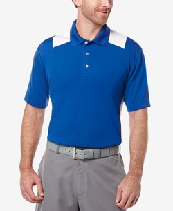 Airflux Colorblocked Polo Shirt by PGA Tour in Bastards